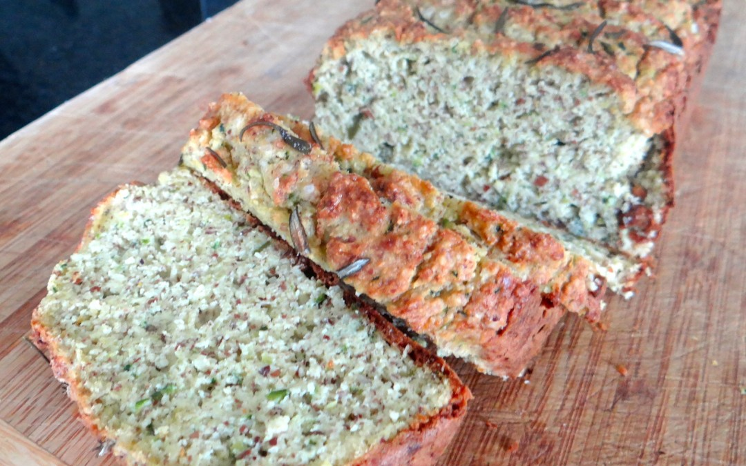 Zucchini, Olive oil & Rosemary loaf - Megs and Soph